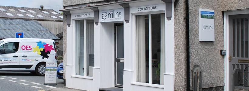 Gamlins Dolgellau Solicitors Office